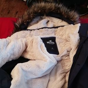 Hollister faux fur parka